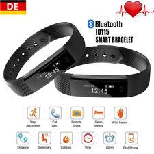 Bluetooth Armband Pulsuhr Schrittzähler Fitness Wasserdicht Activity Tracker DE