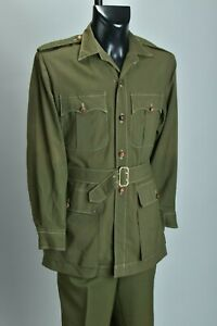 British Cavalry Officers' 1960s' Foreign Service OG Bush Jacket & Trousers. CJO