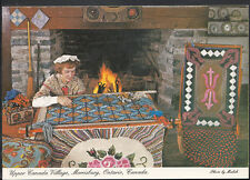 Canada Postcard - Hooked Rugs, Upper Canada Village, Morrisburg, Ontario RR1522