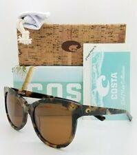 NEW Costa Bimini Sunglasses Shiny Vintage Tort Copper 580G AUTHENTIC Women's