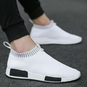 Mens Womens Slip on Shoes Running Sneakers Tennis Fitness Sports Gym Trainers