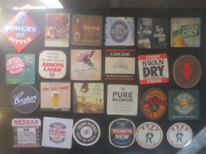 24 different AUSTRALIAN Issue Beer COASTERS, for $2.50 collectable F