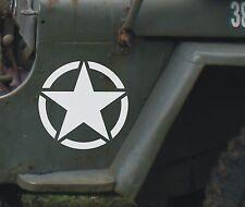 2 Adesivi per Jeep Willys Cherokee Renagade Wrangler 4x4 stella militare