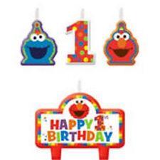 Sesame Street Elmo 1st Birthday Candle Set 4 Pieces