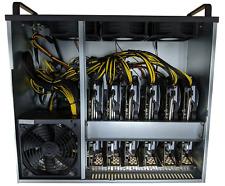 AMD RX 470 6x GPU Mining Rig Cryptocurrency Ethereum Bitcoin, Windows 10, 240V
