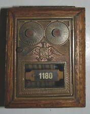 New ListingAntique Vintage Post Office Door Mail Box Postal Bank- Eagle - Wood Estate Find