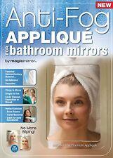 """Magic Mirrorâ""""¢ Platinum Anti-Fog Shield For Bathroom Mirrors - Bulk Pack 5 Units"""