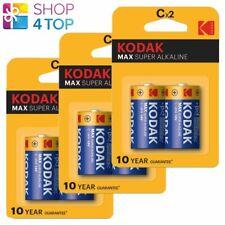 6 KODAK MAX SUPER ALKALINE C LR14 BATTERY 1.5V LR14 MN1400 AM2 E93 7000mAh NEW