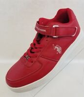 US Polo Assn Vintage Branson Sneakers Athletic Mid Cut Red White Lace Up Size 11