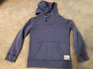 LANDS' END ~ Boys Sweatshirt Sweater Top ~ Size M Medium 10  12 ~ Hooded
