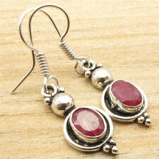 925 Silver Overlay Simulated Ruby Earrings ! Price Start From $0.99