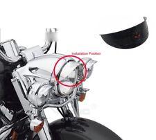 "Gear Skull Black 7"" Headlight Visor Heavy Duty Thick For Harley XL XLH FXR FX"
