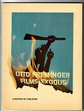 Otto Preminger Films Exodus - A Report By Tom Ryan 1960 softcover Book / Program