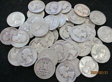 Roll of 40 Silver Washington Quarters $10 Face Value 90% Silver Mixed Dates