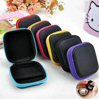 Portable Hard Case Storage Bag for Earphone Earbuds SD Card Mini Zipper Pocket