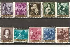 SPAIN-1960-BEST WORKS OF ART OF BARTOLOMÉ ESTEBAN MURILLO IN 10 MINT STAMP