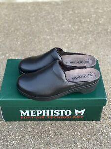 Mephisto Satty Black Clog Slip On Shoe Women's Size 41