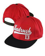 Headrush Red Baseball 13 Snap Back Baseball Hat,Similar to UFC, Affliction, Surf