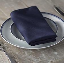10-Pack Polyester Poplin Napkins 17 by 17-Inch, Navy Blue