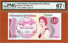 St. Helena QEII 10 Pounds 1985 Pick-8b Gem UNC PMG 67 EPQ