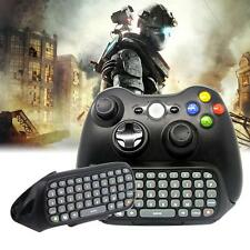 Black Mini USB Wireless Chatpad Message Keyboard Keypad For XBOX 360 Controller