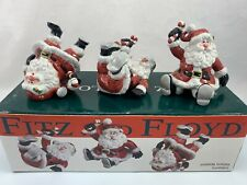 Fitz and Floyd Holiday Christmas Santa With Presents Tumblers Fig Set of 3 Cute