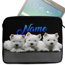 "Personalised Tablet Case WESTIE DOG Neoprene Sleeve Cover 7"" 8"" 9"" 10"" ST071"