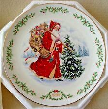 "Lenox ""Kris Kringle"" Santa Plate, Victorian Cllctn,Round,China,# R0374,Coa,Nib"