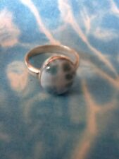 Natural Larimar Ring Solid 925 Sterling Silver Jewelry Size 7  #4