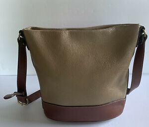 Vintage Coach Sheridan Sheffield Bucket Crossbody Taupe Pebbled Leather 4232