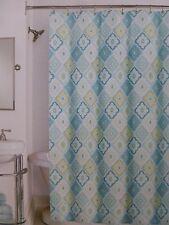 "Peri Home Lilian Tile Fabric Shower Curtain Bwy 72"" x 72"" Nip"