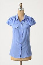 NWT Anthropologie Delicate Corps Silk Blouse Size 6