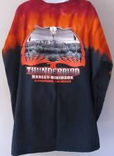 Harley Davidson T Shirt 2X Long Sleeve Tie Dye Thunderbird Albuquerque NM
