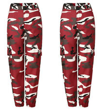 Plus Size Womens Camo Cargo Trousers Pants Military Army Combat Camouflage  Jeans 6bf0a5c8c