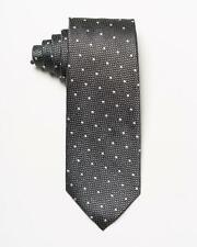 "Tom Ford $270 NWT Dark Gray Textured Oval Dot Pattern 100% Silk Tie 3.4"""