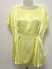 Marks & Spencer Autograph UK12 EUR40 US8 new soft yellow light satin top