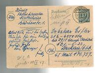 1946 Germany to Dachau War Criminal Detainee Camp Postcard Cover Dr Oskar Eifler