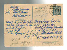 1946 Germany to Dachau War Criminal Detainee Camp Postcard Cover Dr Oskar Eifler