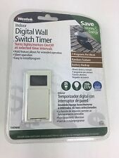 Westek TMDW40 Hardwire Indoor Digital Wall Switch Timer White