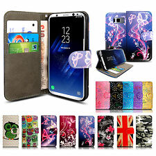 FLIP WALLET PU LEATHER PHONE CASE COVER FOR SAMSUNG GALAXY S4 S5 & S6 S8