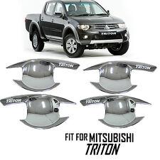 Chrome Door Handle Bowl Cover ABS 4Door Mitsubishi Triton L200 2008-2014