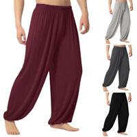 Herren Damen Baggy Hose Yogahose Lose Freizeit Plain Pants Sporthose Haremhose