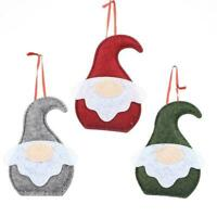 Christmas Decor Faceless Forest Santa Claus Doll Xmas Pendant 14cmx10cm F8Y6