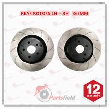 Pair x Slotted Rear Disc Rotor fits HSV Clubsport Grange Maloo Senator VF 367mm