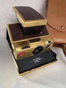 Polaroid SX-70 Alpha 1 Land Camera and Case Gold Version