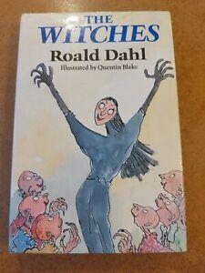 The Witches ~ Roald Dahl 1st UK Ed 1st Print - Hardback Book & Dust Jacket 1983