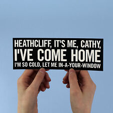 "Kate Bush Lyric Sticker! ""Wuthering Heights"", the kick inside, heathcliff bronte"