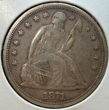 1871 Seated Liberty Silver Dollar NICE