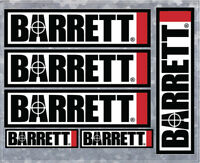 6 Barrett Firearms Vinyl Decals - High Quality - U.S. Seller - Style 001