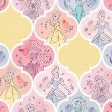 Disney Princesses Cinderella Jasmine Rapunzel Belle Patch Cotton Fabric